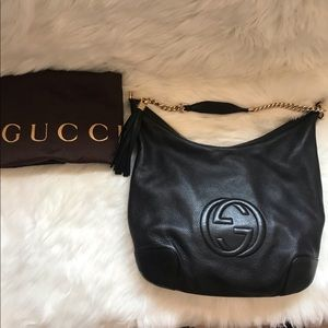 RARE! Authentic GUCCI Soho Pebbled Large Hobo Bag